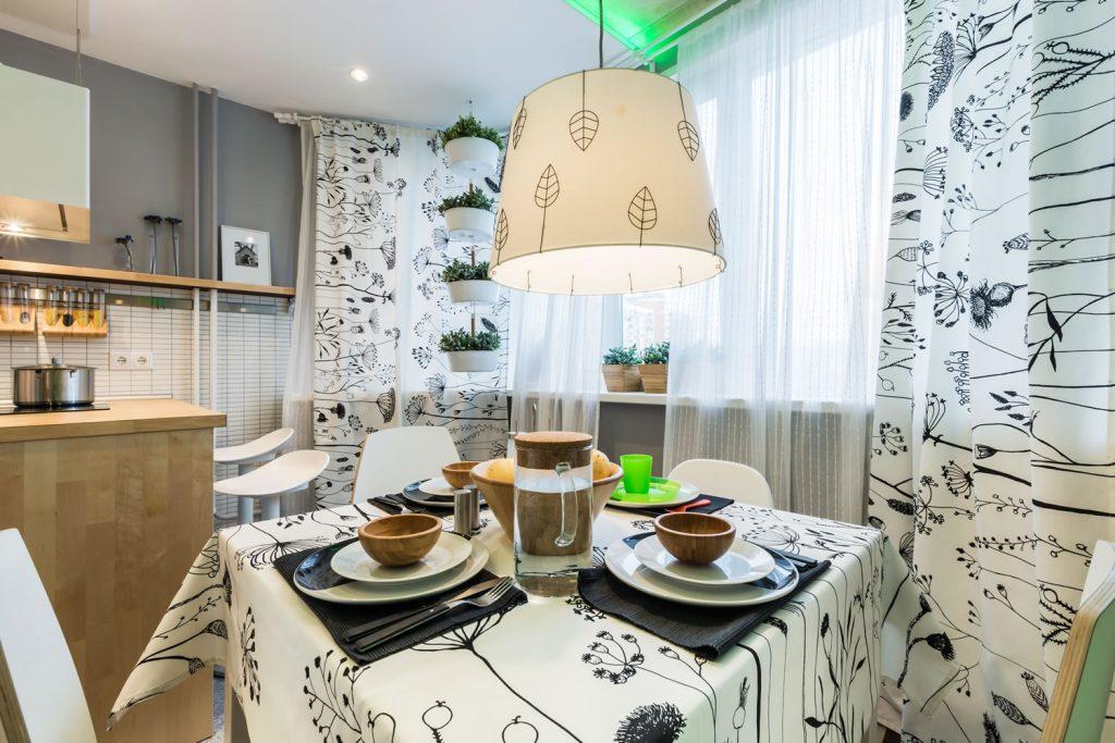 bucatarie moderna - loc de luat masa