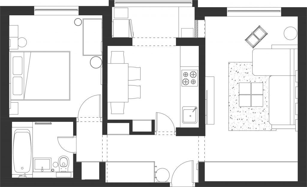 panul apartamentului