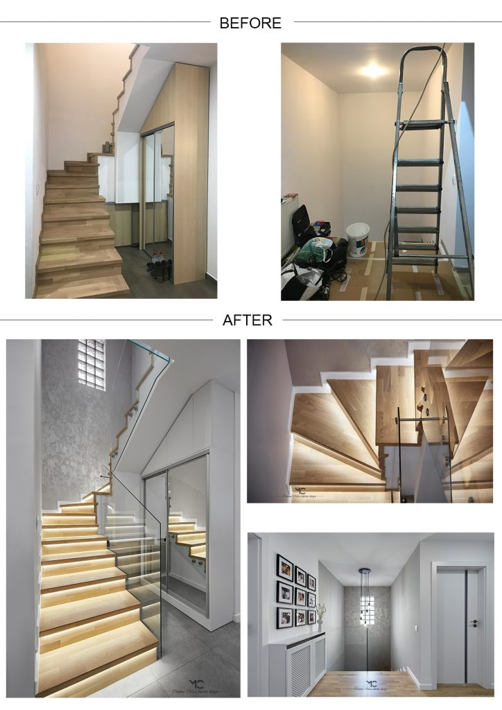 poze inainte si dupa scari interioare